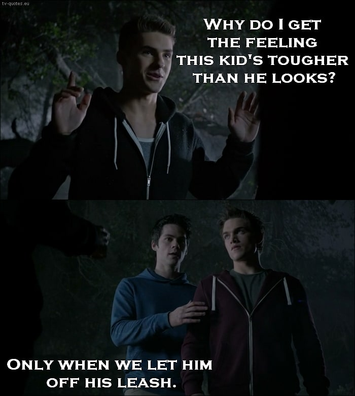 Teen Wolf Quote from 5x02 - Only when we let him of his leash.