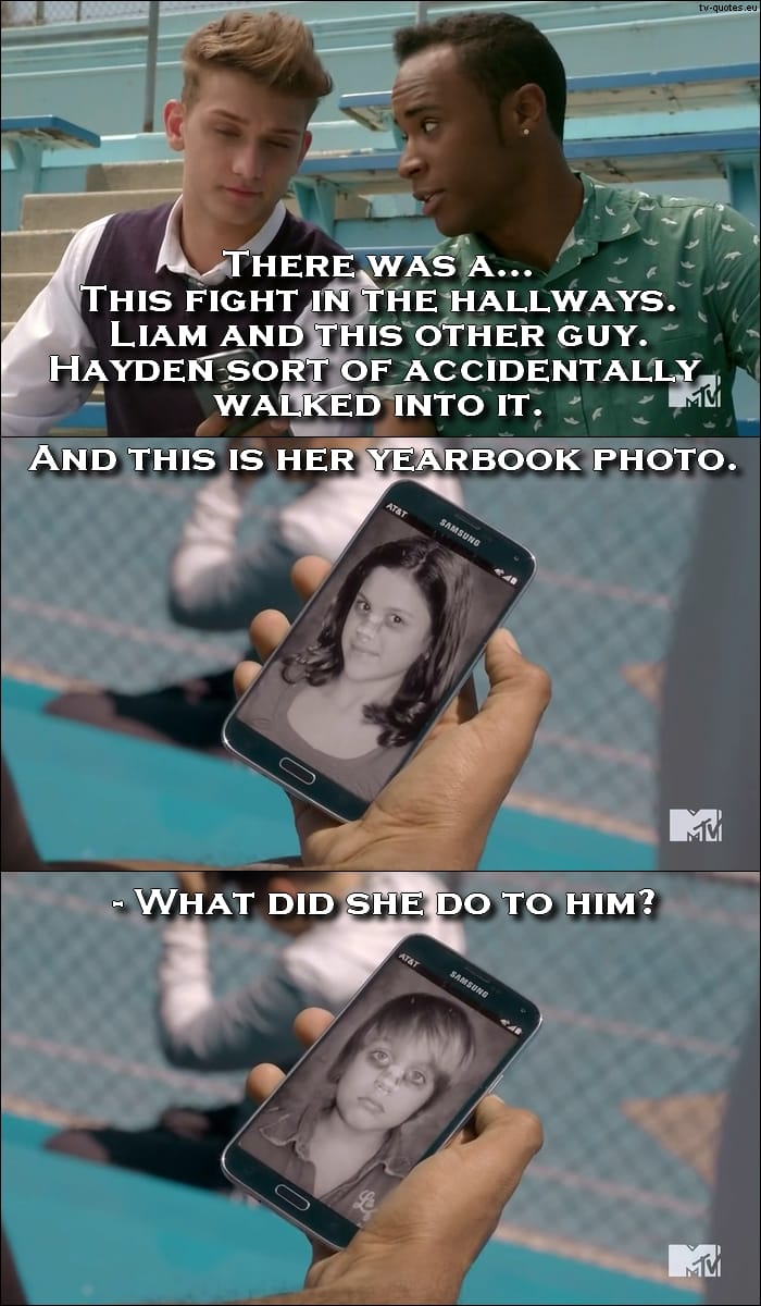 Teen Wolf 5x06 quote - Yearbook photos.