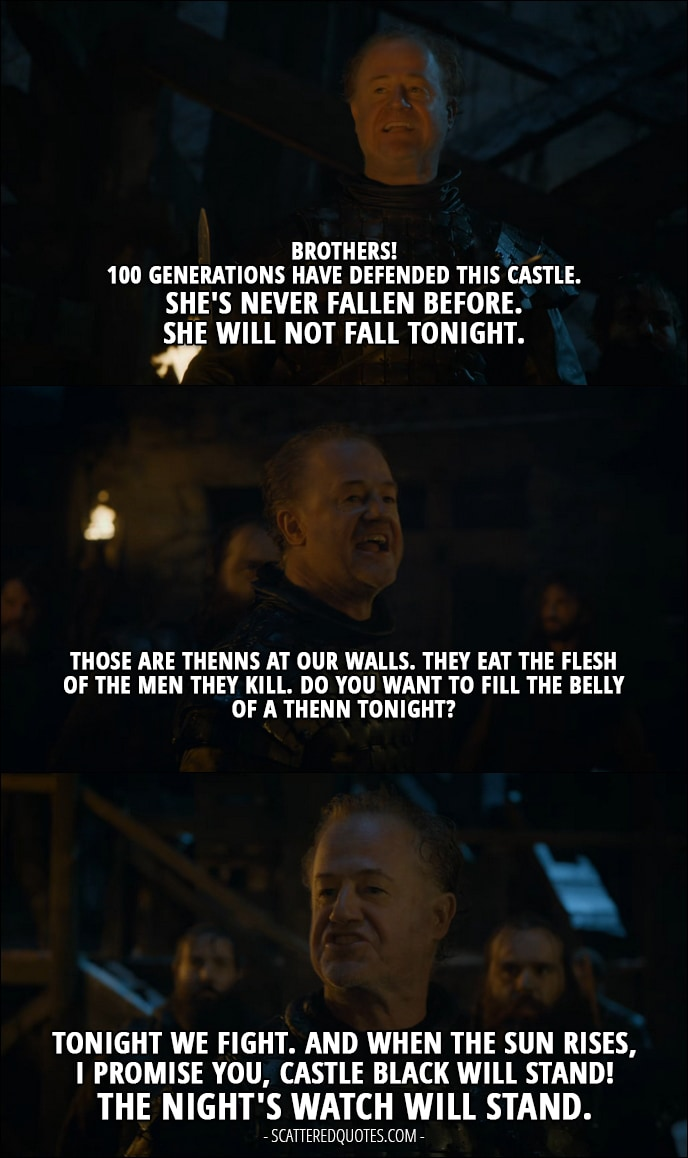 Castle Black Will Stand The Nights Watch Will Stand Scattered