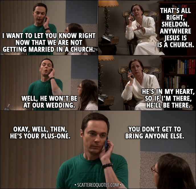 Sheldon Funny Quotes: Anywhere Jesus Is Is A Church.