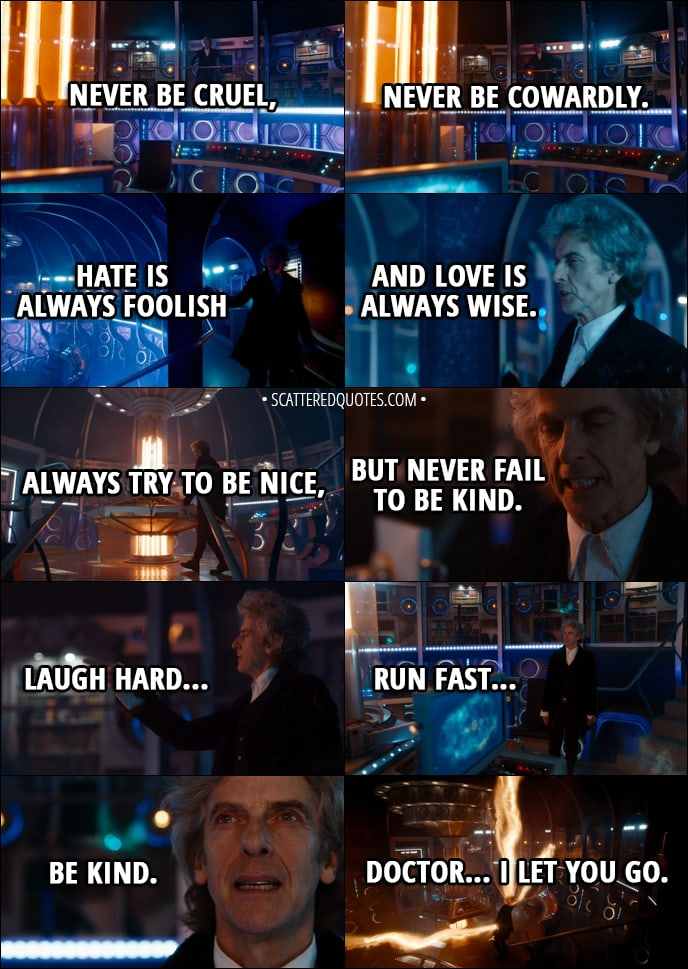 Quote From Doctor Who 11x00   Twelfth Doctor: The Silly Old Universe. The  More