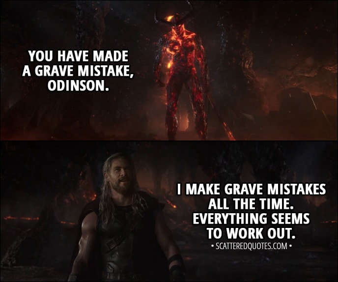 Best Thor Quotes I make grave mistakes all the time. | Scattered Quotes Best Thor Quotes