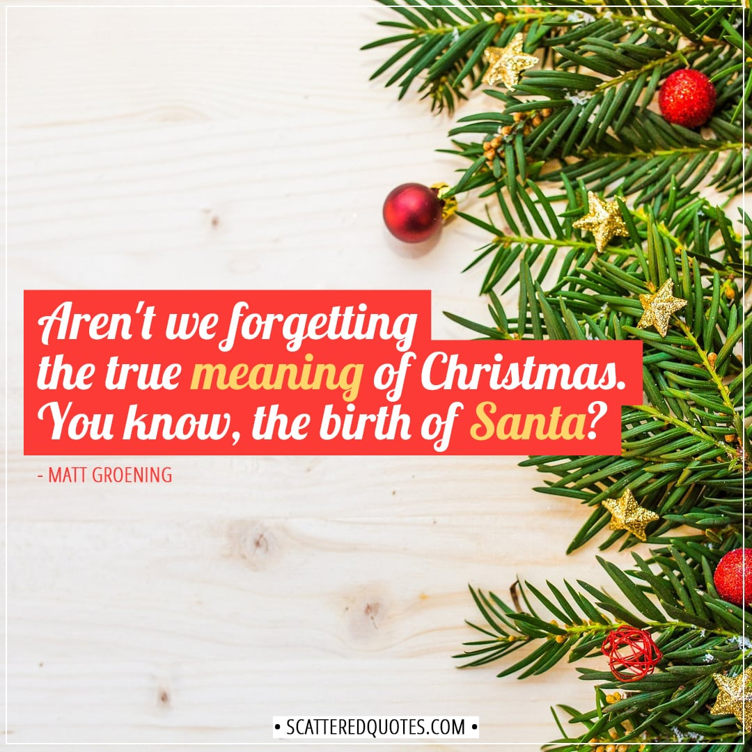 Meaning Of Christmas Tree Symbol: Aren't We Forgetting The True Meaning Of Christmas
