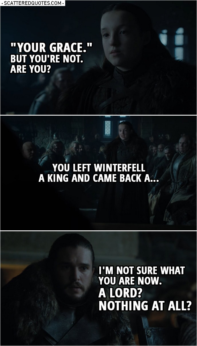 We Named You King In The North Scattered Quotes