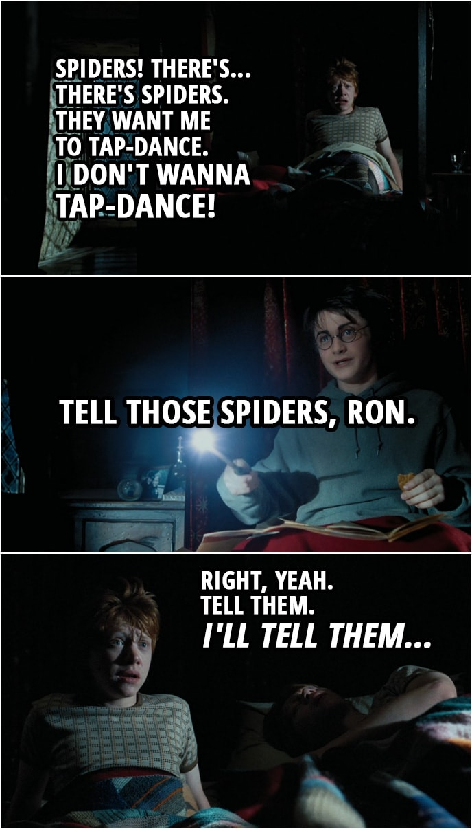 Spiders. They want me to tap-dance. | Scattered Quotes