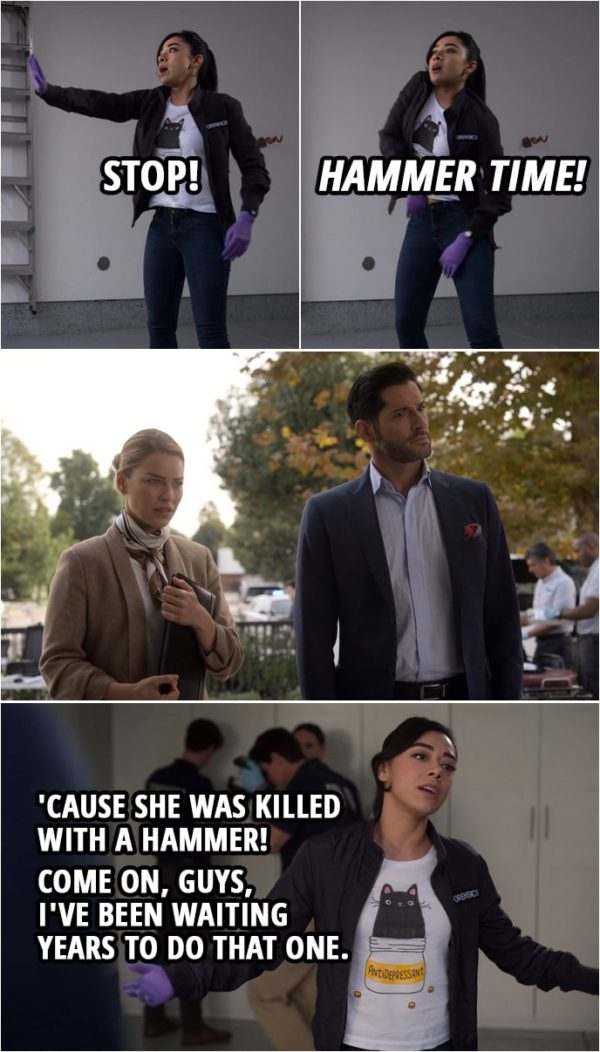 """Quote from Lucifer 4x09 