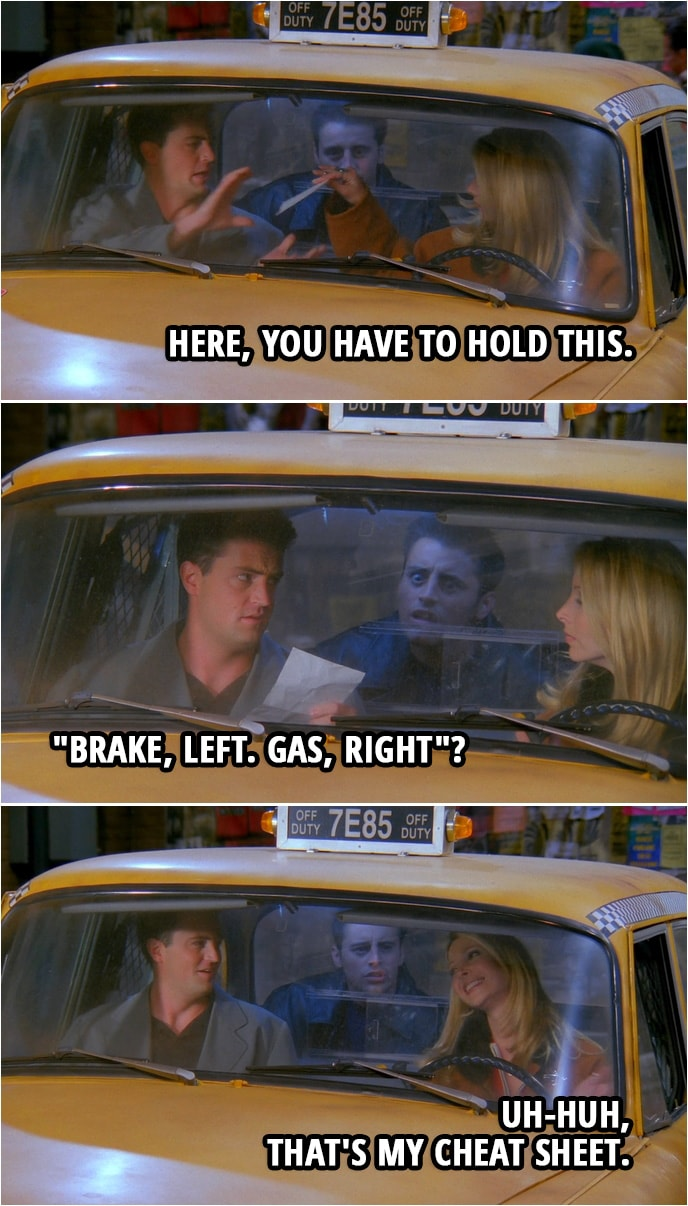 """Quote from Friends 2x09 