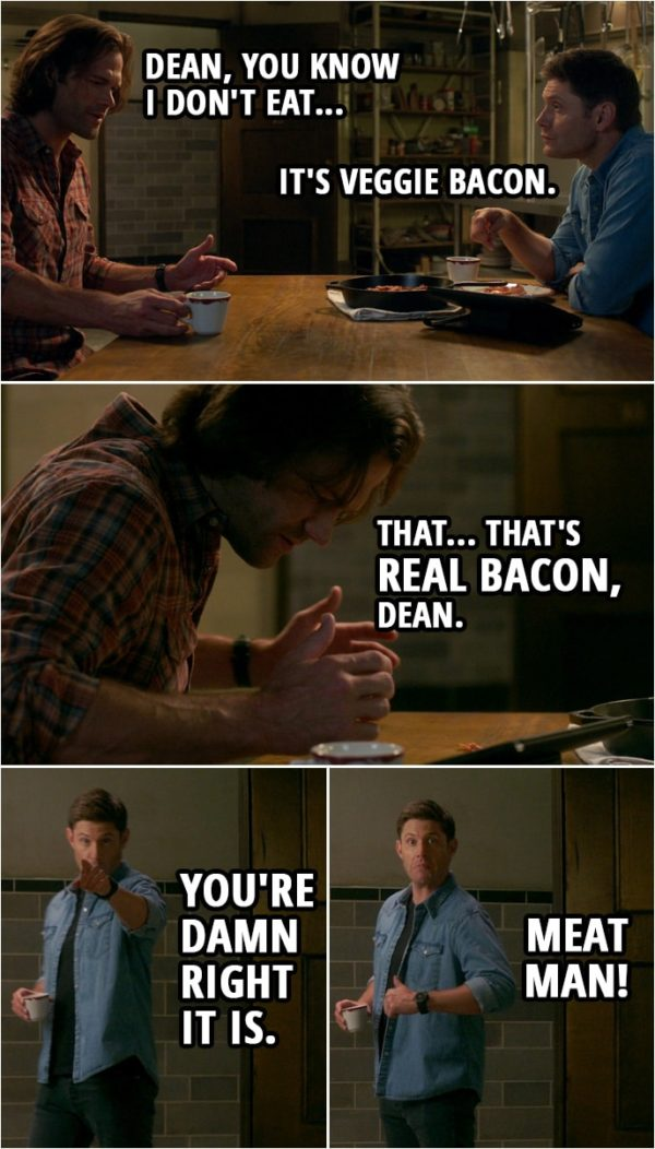 """Quote from Supernatural 15x04 